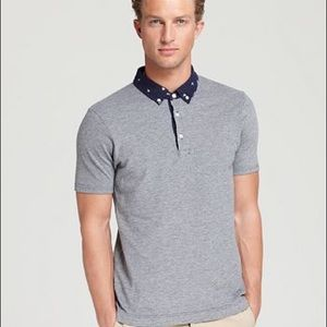 Wings + Horns Ikat collared polo shirt